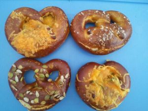 Cheese, Plain, and Seeded Pretzels